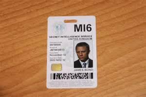 mi6 id card template bond 007 mi6 id pvc prop replica plaquette