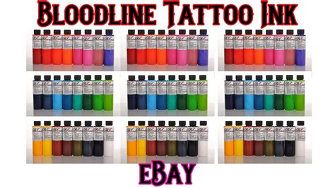 tattoo ink price bloodline tattoo ink by skin candy review youtube