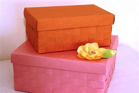 boxes to make create stylish storage with a diy woven paper box