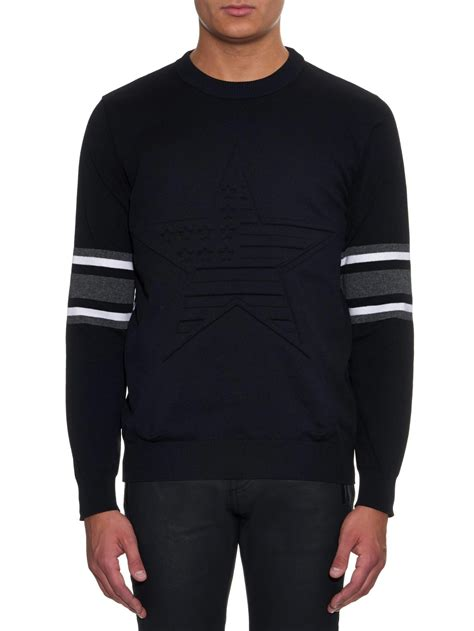 Sweater Givenchy Givenchy 3d Embossed Sweater In Black For Lyst