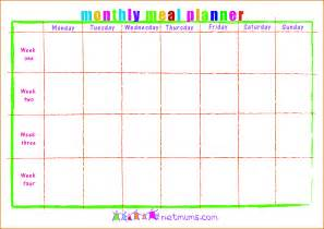 plain calendar template search results for meal plan templates calendar 2015