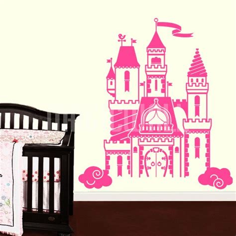 castle wall sticker wall decals beautiful tale castle wall stickers
