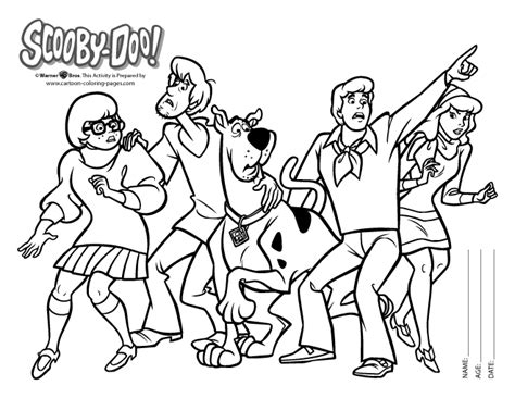 scooby doo printable coloring pages