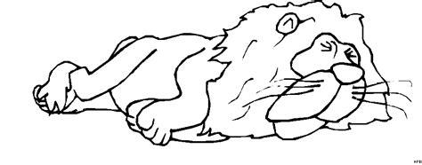 schlafender loewe ausmalbild malvorlage comics