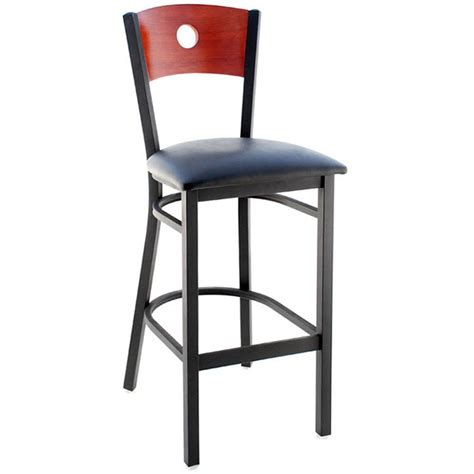 Metal Bar Stool With Back by Interchangeable Back Metal Bar Stool With Circled Back
