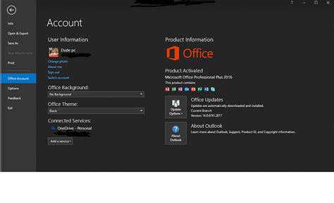office 365 themes black mamba office 2016 latest update black theme now gone solved