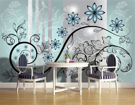 wall murals uk abstract flower wall murals for wall homewallmurals
