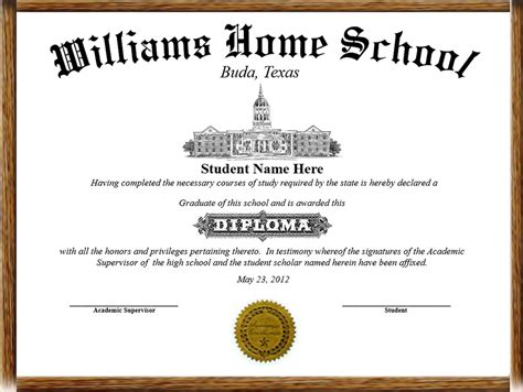 diploma certificate home school diplomas