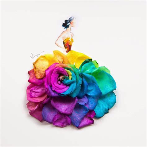 disegnare i fiori disegnare con i fiori catia mancini costume designer