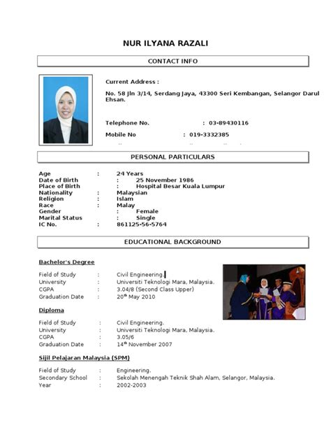Format Resume Terkini by Contoh Resume From Anis