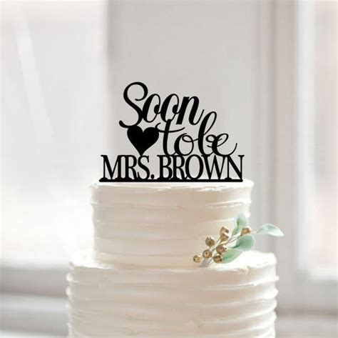 wedding shower cake toppers soon to be mrs with your last name cake topper wedding