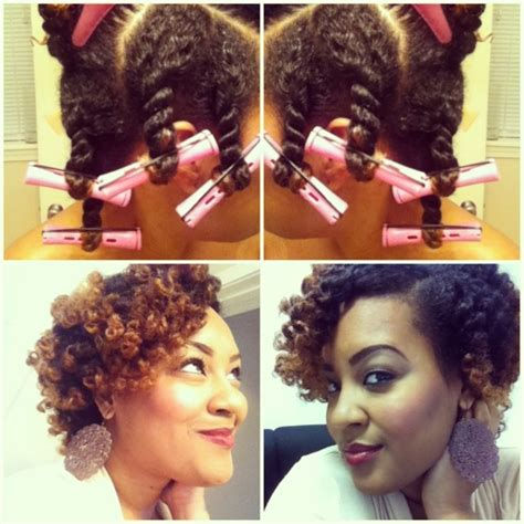 natural hairstule using perm rods perm rod hair inspirations from pinterest the style news
