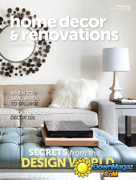canadian home decor magazines home decor renovation canada september 2015 187 download