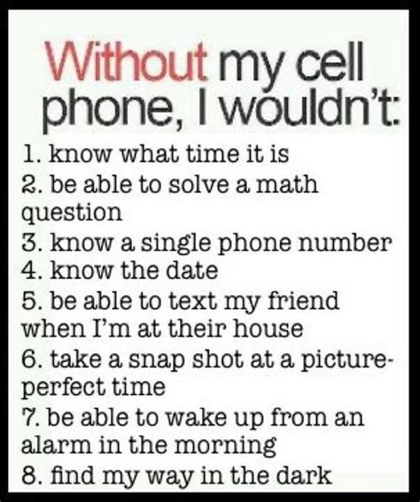 without my cell phone gagthat