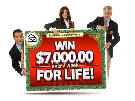 publishers clearing house sweepstakes quot win 7000 a week