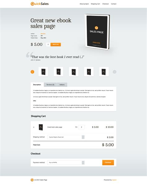 Woocommerce One Page Shopping By Optart Codecanyon One Page Shopping Cart Template