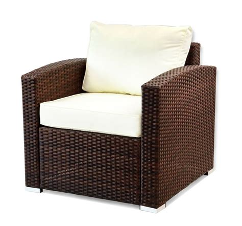 outdoor patio lounge arm chair resin rattan wicker