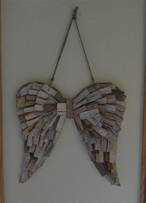 angel home decor driftwood angel wings wedding home decor angel wings