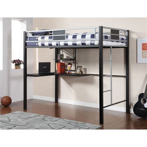 Bunk Bed With Workstation Black Metal Workstation Loft Bed Bed Mattress Sale