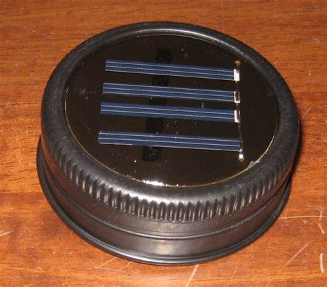 solar lid light jar solar lid light great for projects and by fsgifts