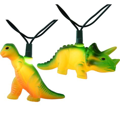 Dinosaur Party String Lights 12 Feet 10 Lights Dinosaur Lights