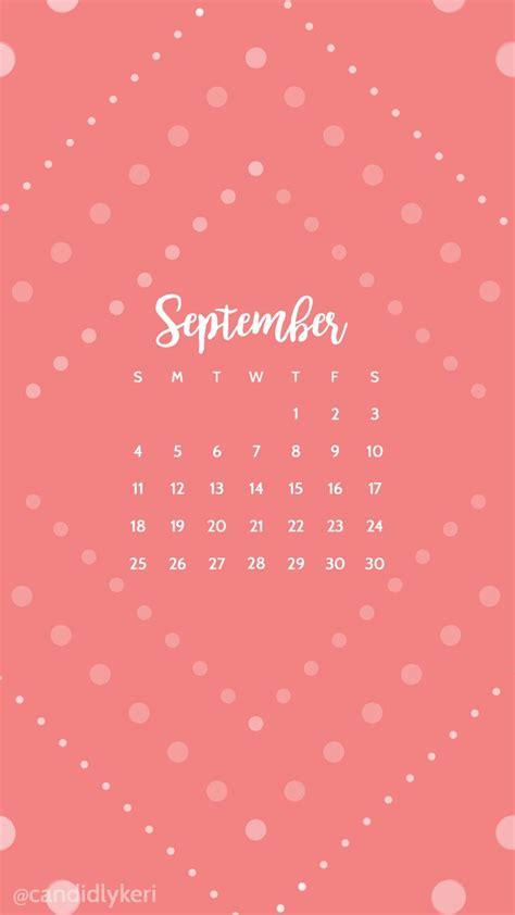 wallpaper computer com pink polka dot cute september calendar 2016 wallpaper you