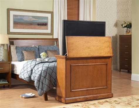 hidden tv lift cabinet traditional bedroom new york elevate tv lift cabinets for flat screen tv s up to 42