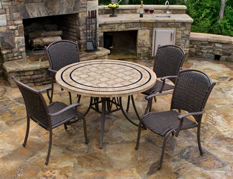 home and patio decor center stone top patio furniture chicpeastudio