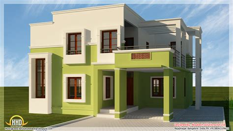 modern homes plans 5 beautiful modern contemporary house 3d renderings kerala home design and floor plans