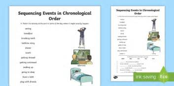 sequencing events in chronological order activity sheet