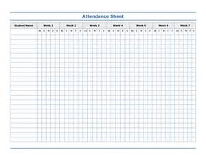 Simple Attendance Sheet Template by Attendance Sheet Template Helloalive