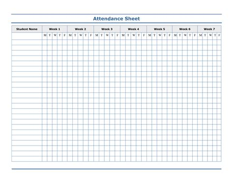 sheet template word attendance sheet template helloalive