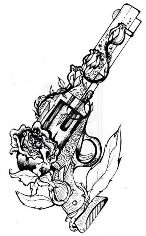 simple tattoo gun designs simple guns tattoo design for girl golfian com