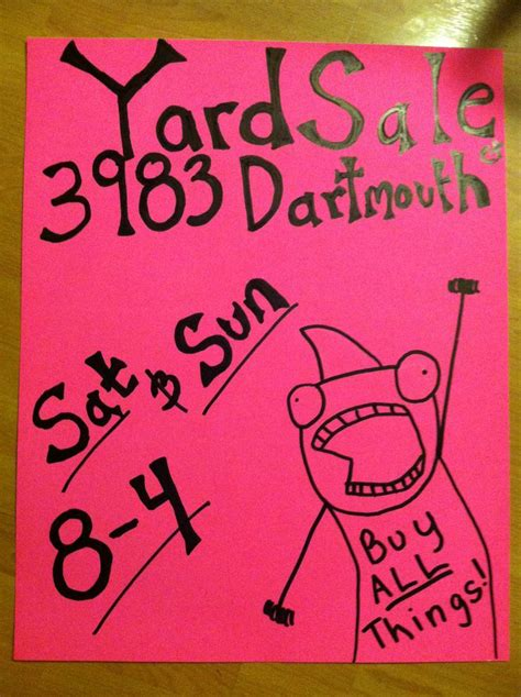 garage sale sign view larger yard sale signs templates hd wallpaper