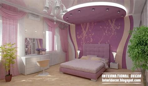 bedroom purple colour schemes modern design: contemporary bedroom design ideas with beaded curtain and modern