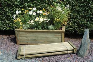 large wooden trough garden planter h50xl150xw50 15