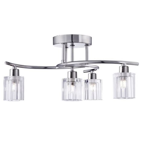 simple flush fitting with choice of l types light clear alayna ceiling fitting ceiling lights