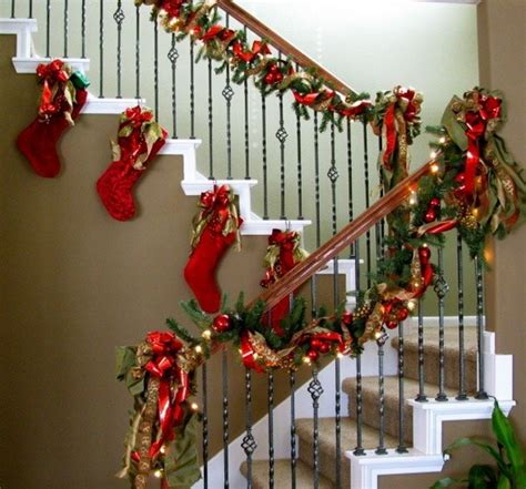 Garland Hangers For Banister Hanging Christmas Stockings For Holidays Family Holiday
