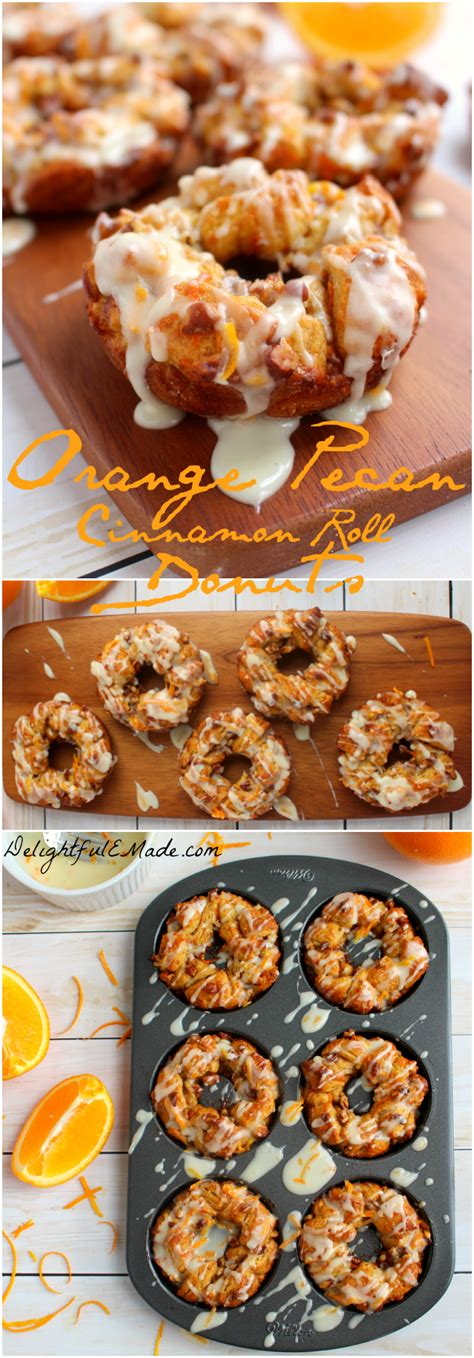 Would You Rather Eat Doughnuts Or Cinnamon Rolls by Orange Pecan Cinnamon Roll Donuts