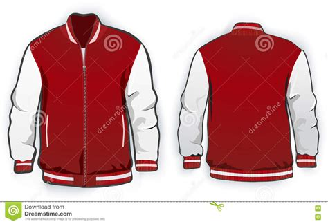 sports or varsity jacket template stock vector image
