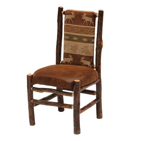 Fabric Upholstered Dining Chairs Fireside Lodge Furniture 86030 Hickory Fabric Upholstered Seat And Back Side Dining Chair Atg