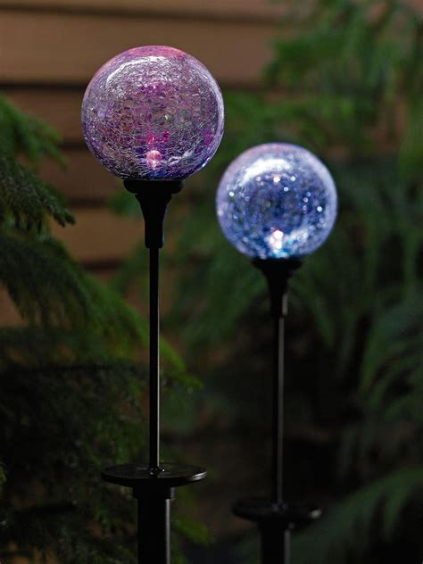 garden stake lights garden solar lights solar northern lights sphere garden stake