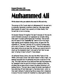 muhammad ali biography essay muhammed ali write about who you admire most in life any