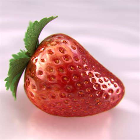 3d 3 Strawberry strawberry 3d model max obj fbx cgtrader