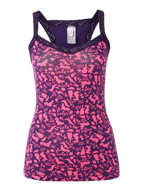 therapy in vest therapy rabbit print vest in pink purple lyst