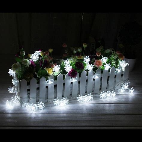 Patio Lights Flower Cheap 20 Led Solar Powered Lotus Flower Outdoor