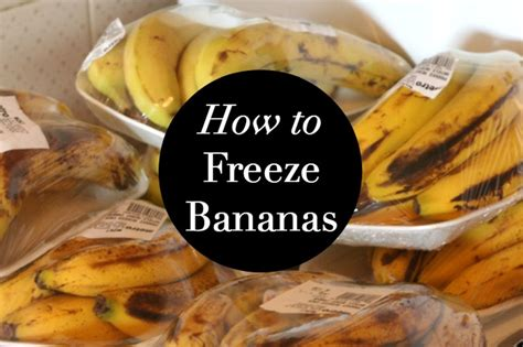 have you been freezing bananas all wrong