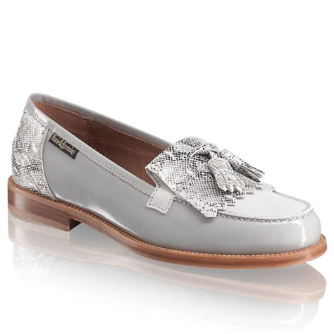 and bromley loafers chester tassel loafer in grey leather bromley