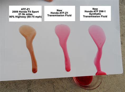 honda accord transmission fluid type changed transmission fluid atf z 1 and new synthetic dw