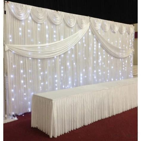 Wedding Backdrop Design Sle by White Silk Wedding Backdrop Curtains Simple Design